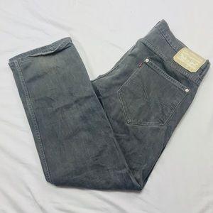Levis 514 light gray denim jeans 36 x 32